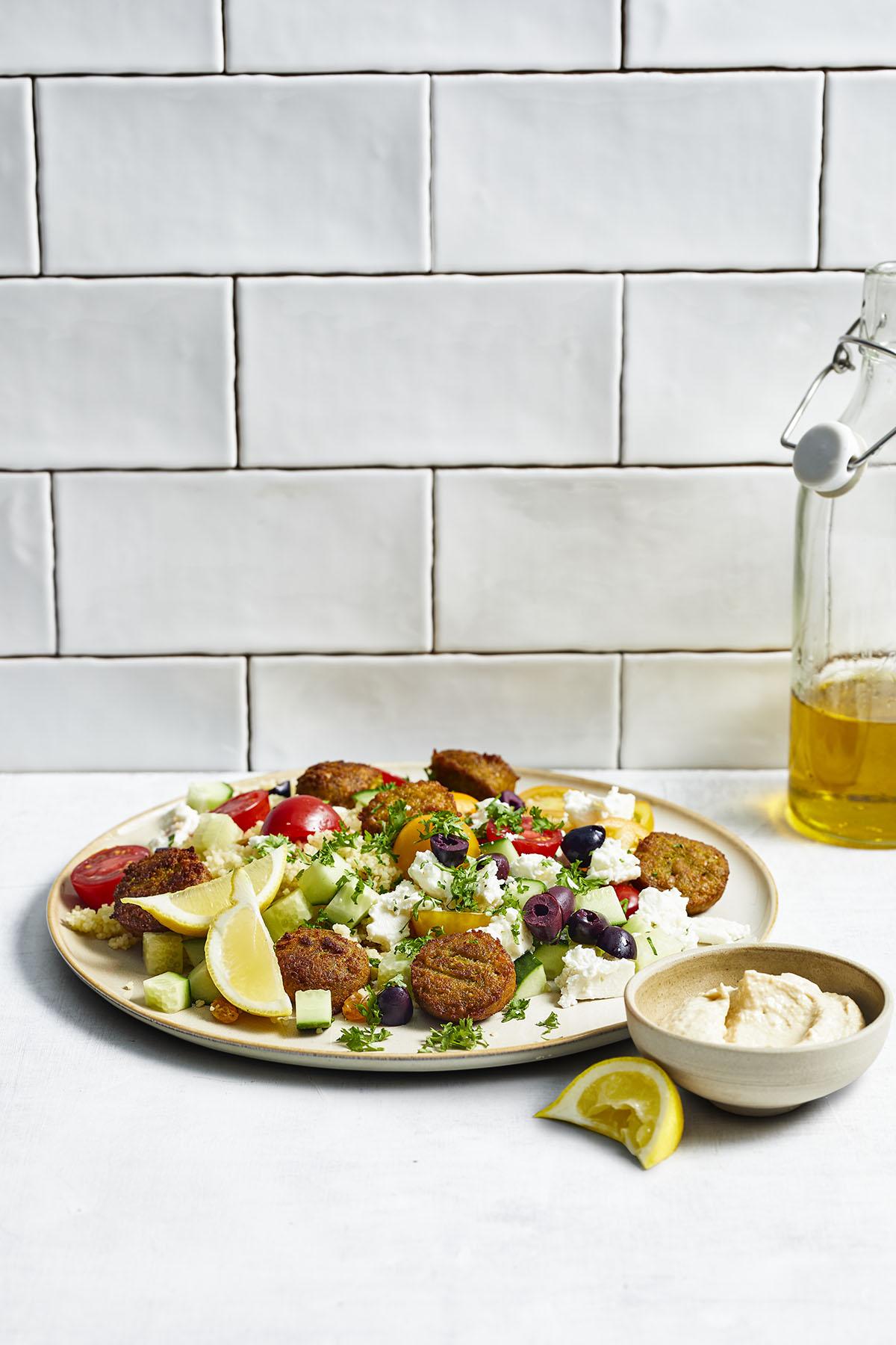 Couscoussalade met falafel