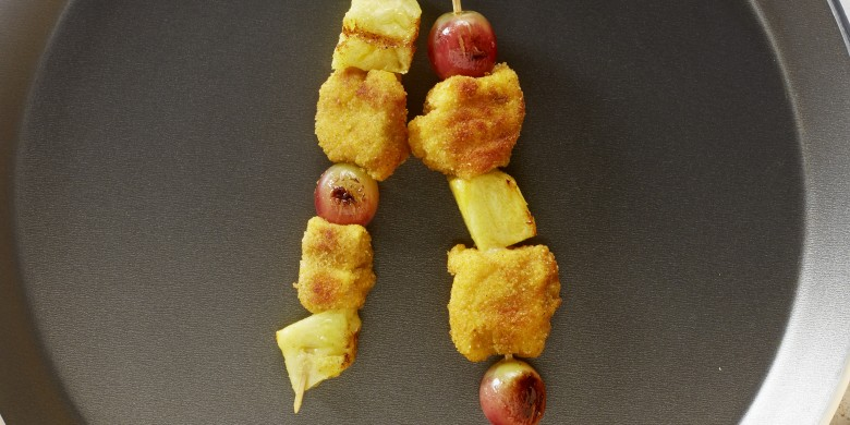 Kalkoen-fruitspiesjes