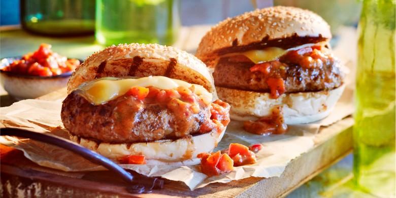 Sloppy Joe-cheeseburger